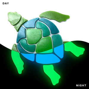 Large Turtle Pool Mosaic | Glow in the Dark Pool Tile | by Element Glo