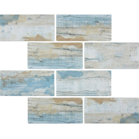 "TASBARKBAY36 - Aquatica Bay, 3"" x 6"" - Glass Tile"