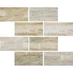 "TASBARKCINN36 - Aquatica Cinnamon, 3"" x 6"" - Glass Tile"