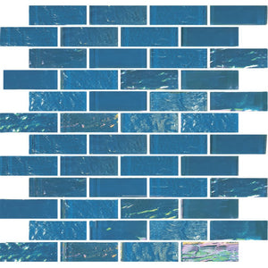 "TASNAUTBIMIN13 - Aquatica Bimini Blue, 1"" x 3"" - Glass Tile"
