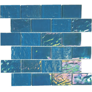 "TASNAUTBIMIN23 - Aquatica Bimini Blue, 2"" x 3"" - Glass Tile"