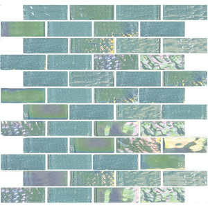 "TASNAUTEMER13 - Aquatica Emerald Green, 1"" x 3"" - Glass Tile"