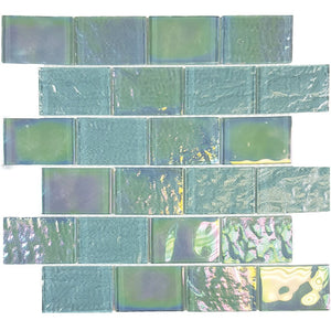"TASNAUTEMER23 - Aquatica Emerald Green, 2"" x 3"" - Glass Tile"