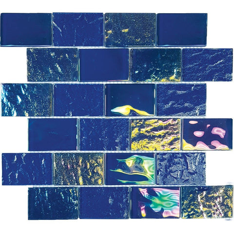 "TASNAUTNAVAL23 - Aquatica Naval Blue, 2"" x 3"" - Glass Tile"
