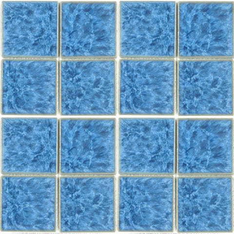 "TITAN-331 - Fujiwa Crystal Blue, 3"" x 3"" - Porcelain Pool Tile"