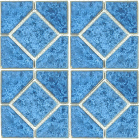 "TITAN-661 - Fujiwa Crystal Blue, 6"" x 6"" Deco - Porcelain Pool Tile"