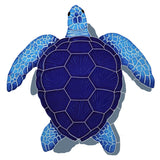 TLSBLUM - loggerhead turtle blue with shadow medium