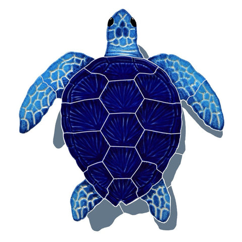 TLSBLUS - Loggerhead turtle blue with shadow small