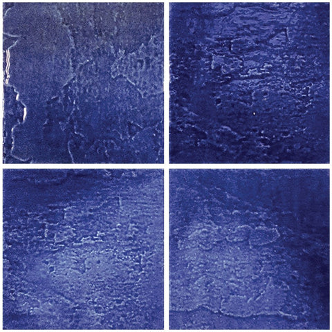 "TONMELAATL6 Aquatica Atlantico Blue Cobalto, 6"" x 6"" (1 box, 44 pcs) - Porcelain Pool Tile"