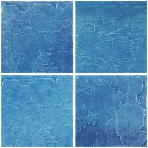 "TONMELAIND6 Aquatica Indiano Azzurro, 6"" x 6"" (1 box, 44 pcs) - Porcelain Pool Tile"