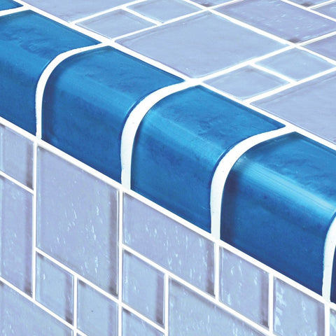 TRIM-GG8M2348B17 - Blue Mixed, Trim - Glass Tile