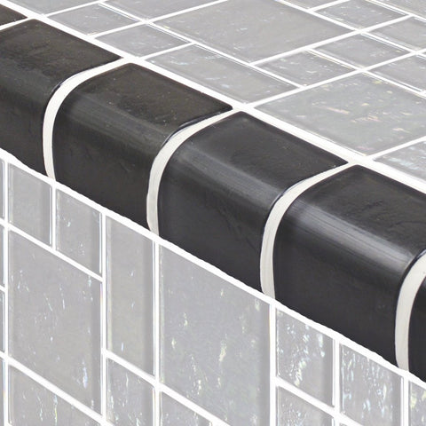 TRIM-GG8M2348K8 - Graphite Mixed, Trim - Glass Tile