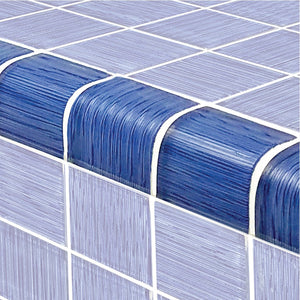 "Blue, Trim 2"" x 2"" - Glass Tile"
