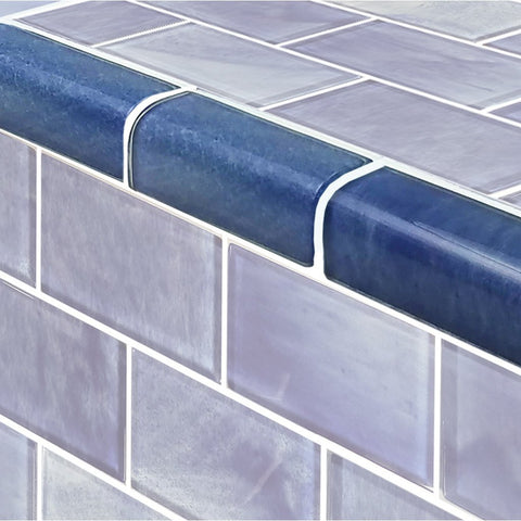"Stratus Blue, Trim 2"" x 4"" - Glass Tile"