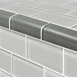 "Gray, Trim 2"" x 4"" - Glass Tile"