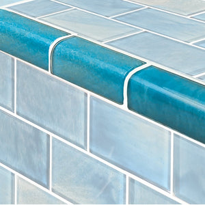 "Aqua, Trim 2"" x 4"" - Glass Tile"