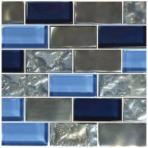 "Blue, 1"" x 2"" - Glass Tile"