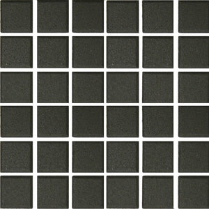 "UNG-201C - Black, 2"" x 2"" - Porcelain Pool Tile - Fujiwa"
