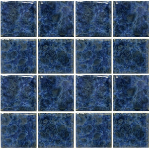 "VENIZ-347 - Sea Foam, 3"" x 3"" - Porcelain Pool Tile - Fujiwa"