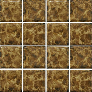 "VENIZ-348 - Tiger, 3"" x 3"" - Porcelain Pool Tile - Fujiwa"