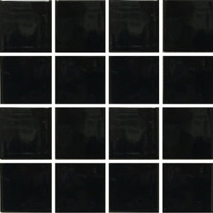 "VIP-714 - Black, 3"" x 3"" - Porcelain Pool Tile - Fujiwa"