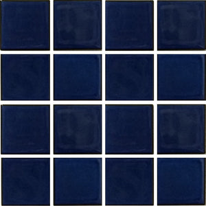 "VIP-791 - Royal Blue, 3"" x 3"" - Porcelain Pool Tile - Fujiwa"