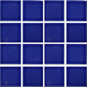 "Electric Blue, 3"" x 3"" - Glass Pool Tile"