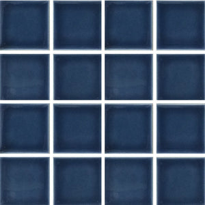 "VIP-917 - Navy Blue, 3"" x 3"" - Porcelain Pool Tile - Fujiwa"