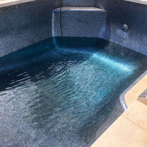 "Black 1"" x 1"" Glass Mosaic Tile for Pools 