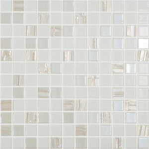 "ASTRA WHITE - Astral White, 1"" x 1"" Vidrepur Glass Mosaic Tile"