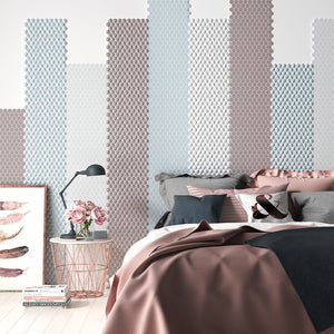 Matte Light Grey 3D Hexagon Tile | H35909MD | AquaBlu Mosaics