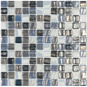 "ST. PETE MIX - St. Pete Mix, 1"" x 1"" Vidrepur Glass Mosaic Tile"