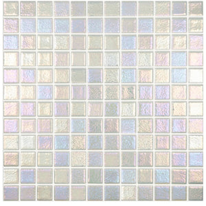 "Vidrepur Shell Series Steel 557 1"" x 1"" Glass Tile 093557M"