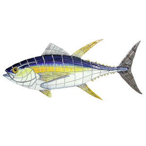 Yellowfin Tuna (Special Order) - Pool Mosaic - NS20729 - Artisry in Mosaics Custom Mosaics