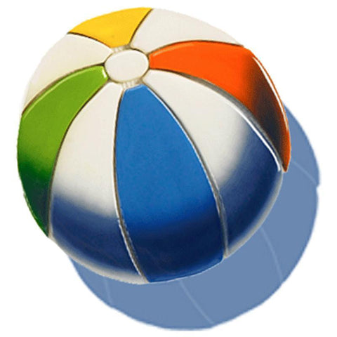 BB44-6/SH DG Beach Ball w/Shadow Custom Mosaics