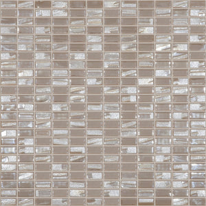 "BIJOU COFFEE Mini Brick Coffee/Brown Mix Colors 354M-354L, 1/2"" x 1"" - Glass Tile"