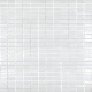 "BIJOU SATIN Mini Brick White Color 350L, 1/2"" x 1"" - Glass Tile"