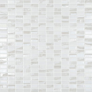 "BIJOU WHITE Mini Brick White Mix Colors 350M-350L, 1/2"" x 1"" - Glass Tile"