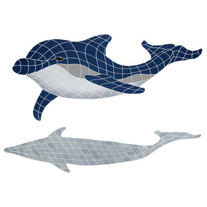 BDSBLUDL Bottlenose Dolphin Downward w/Shadow Artistry in Mosaics