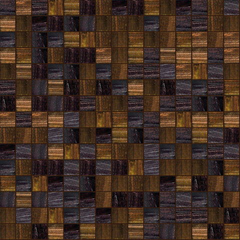 "Mahogany, 3/4"" x 3/4"" - Glass Tile"