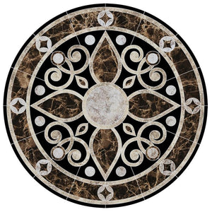 CM-BM2-36 Baroque Medallion 2 Custom Mosaics