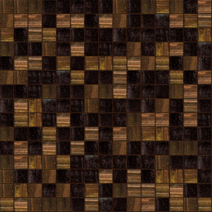 Coffee Mix, 3/4 x 3/4 Mosaic Tile | TREND Glass Mosaic Tile