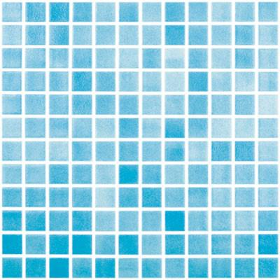 "Fog Turquoise Blue, 1"" x 1"" - Glass Tile"