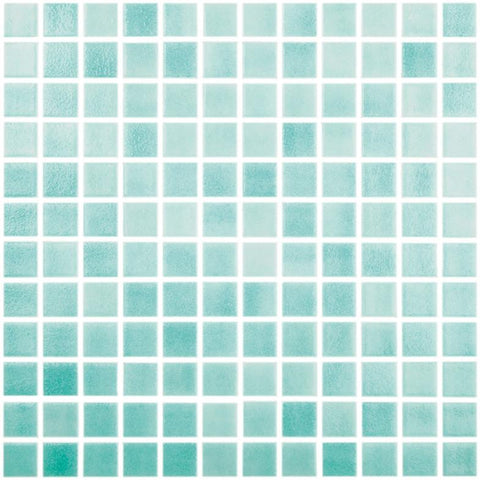 "Fog Caribbean Green, 1"" x 1"" - Glass Tile"