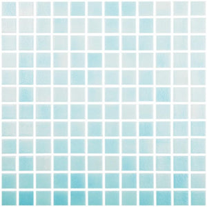 "Fog Clear Sky Blue, 1"" x 1"" - Glass Tile"