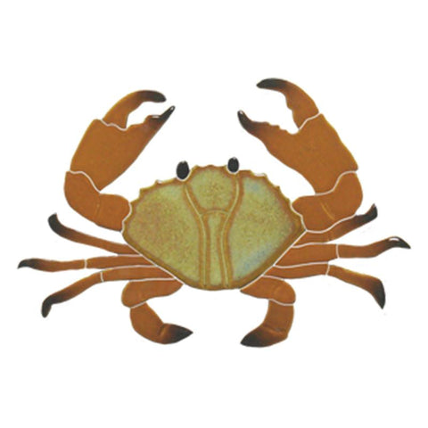 "CRABROB Crab, 8"" Brown Artistry in Mosaics"