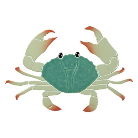 "CRAGREB Crab, 8"" Green Artistry in Mosaics"