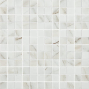 "CALACATTA MT Calacatta MT 4302, 1"" x 1"" - Glass Tile"