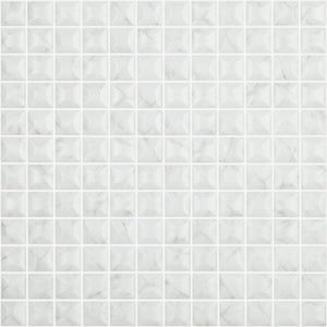 "EDNA CARRARA GREY MT Edna Carrara Grey MT 4300B, 1"" x 1"" - Glass Tile"