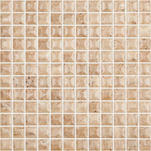 "EDNA TRAVERTINO BEIGE MT Edna Travertino Beige MT 4101B, 1"" x 1"" - Glass Tile"
